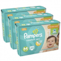 Kit 3 Fralda Pampers Confort Sec M Com 132 Unidades Pampers